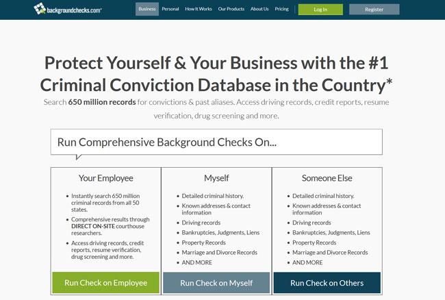Backgroundchecks-com printscreen homepage