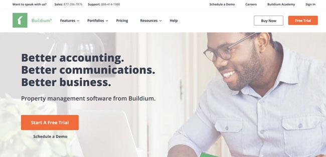 Buildium printscreen homepage