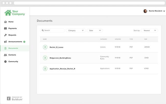 Buildium share important documents