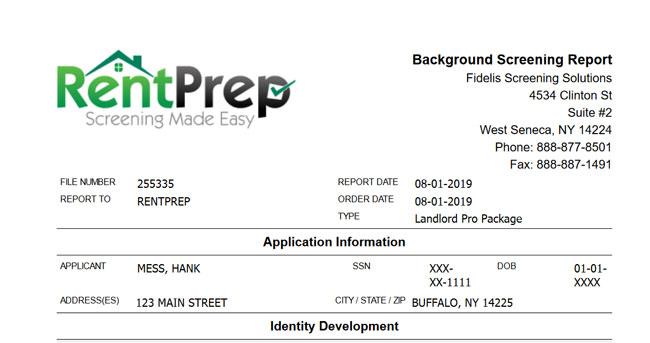 RentPrep example report