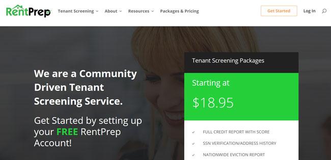 RentPrep printscreen homepage