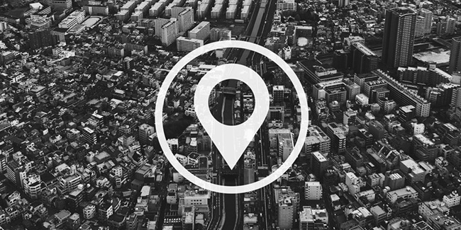 city with location and pin